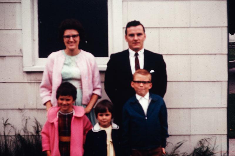 Clifford and Dorothy Mitchell, Scott, Carol, Beth