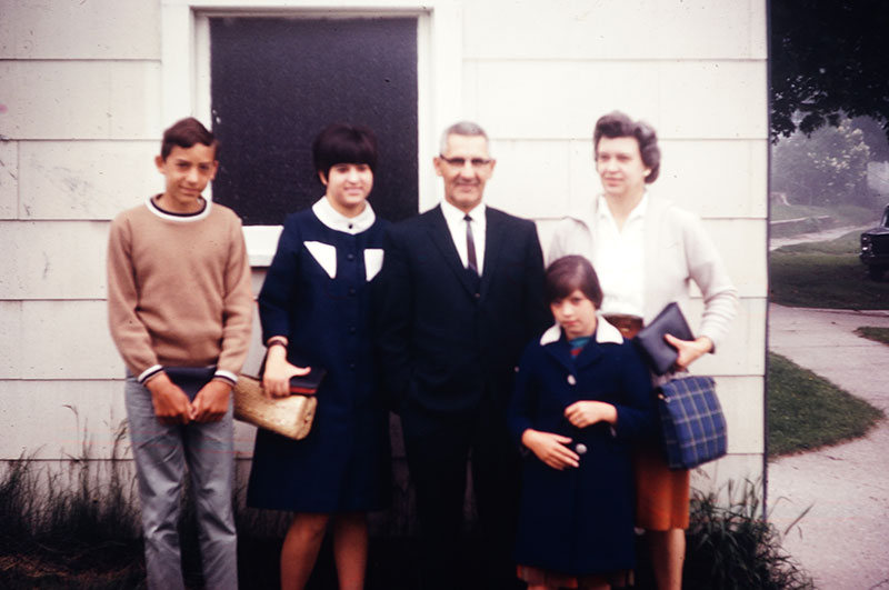 Peter O'Neil, deacon, and family
