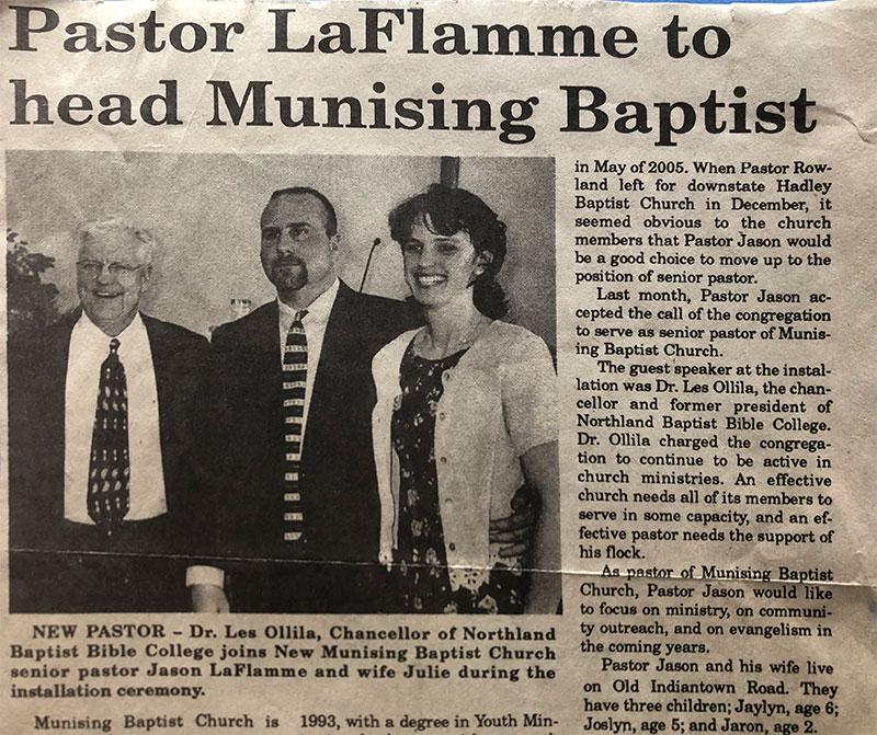 Pastor LaFlammme to head Munising Baptist